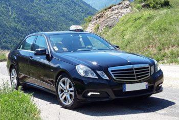 Transport haut-de-gamme à Moutiers en Taxi dans une Mercedes Classe E